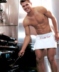 Sexy guy in the kitchen